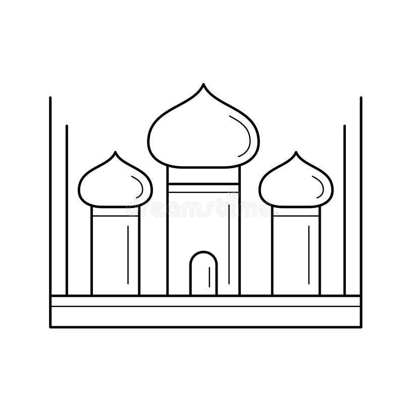 Linea icona di Taj Mahal illustrazione di stock