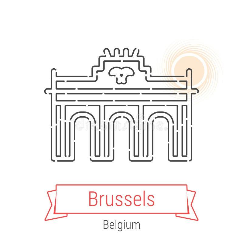 Linea icona di vettore di Bruxelles, Belgio royalty illustrazione gratis