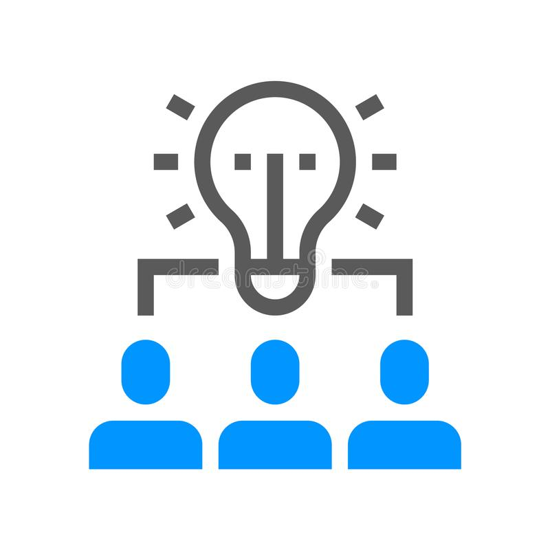 Linea icona di vettore dell'amministrazione delle risorse umane Team il lavoro Colpo editabile pixel 48x48 perfetto illustrazione vettoriale