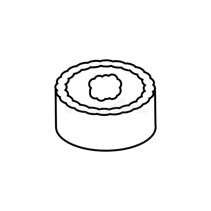Linea icona, elementi dei sushi della bevanda dell'alimento royalty illustrazione gratis