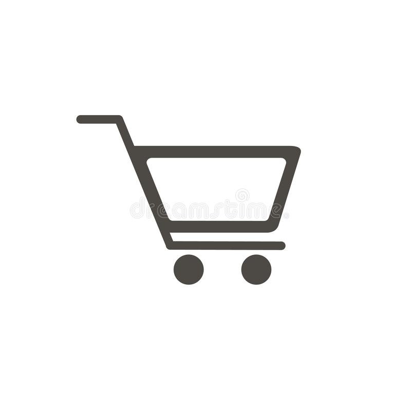 Linea icona, migliore icona del carrello di vettore di progettazione piana illustrazione vettoriale