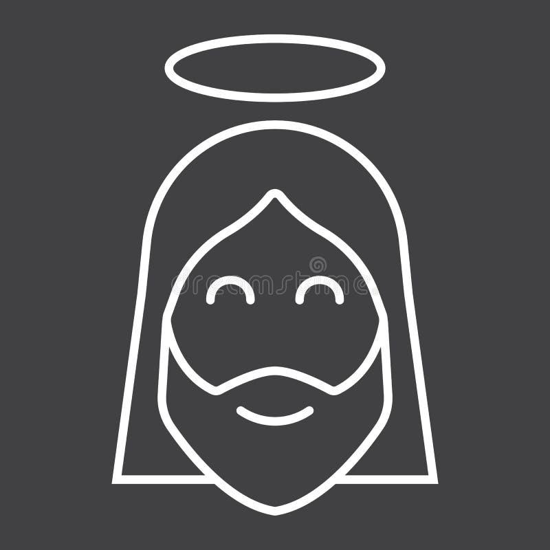 Linea icona, pasqua e festa, segno di Gesù di Cristo illustrazione di stock