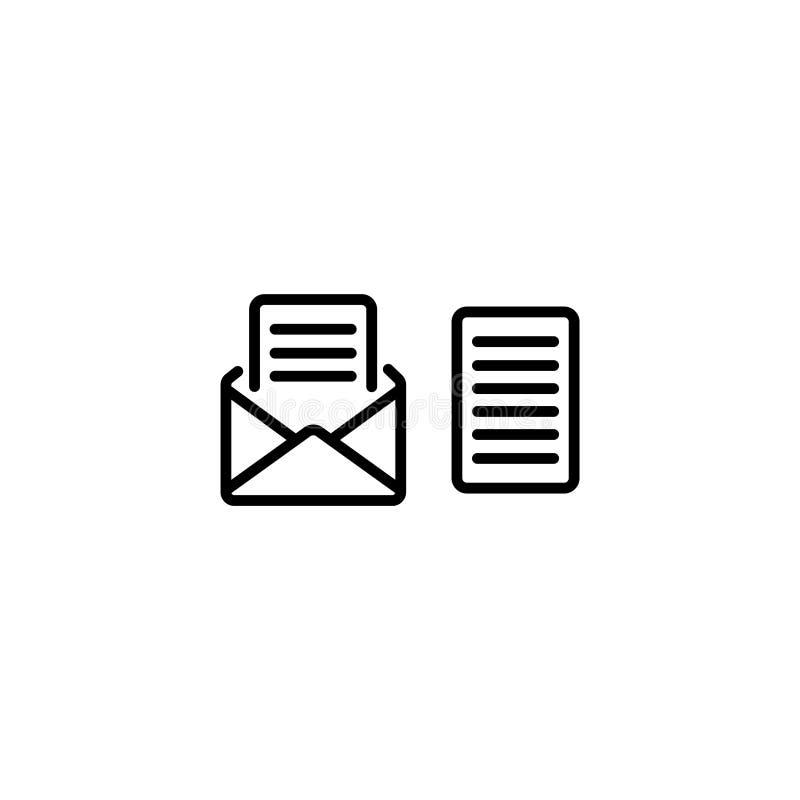 Linea icona Posta di vista, messaggio illustrazione di stock