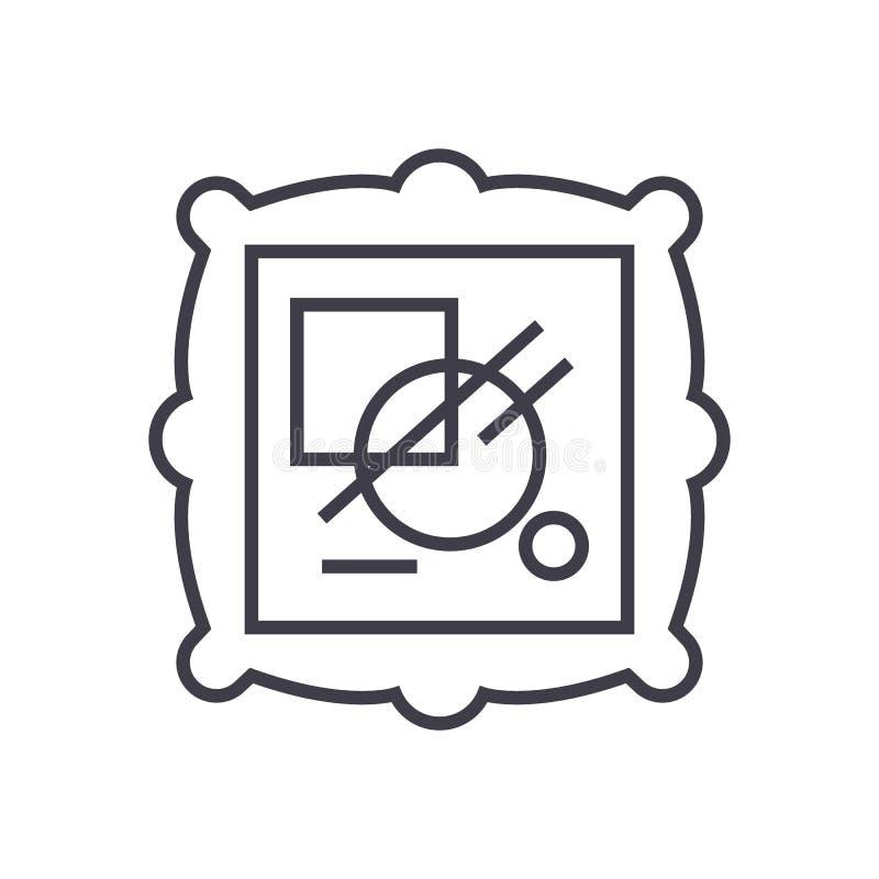 Linea icona, segno, illustrazione di vettore di arti su fondo, colpi editabili royalty illustrazione gratis