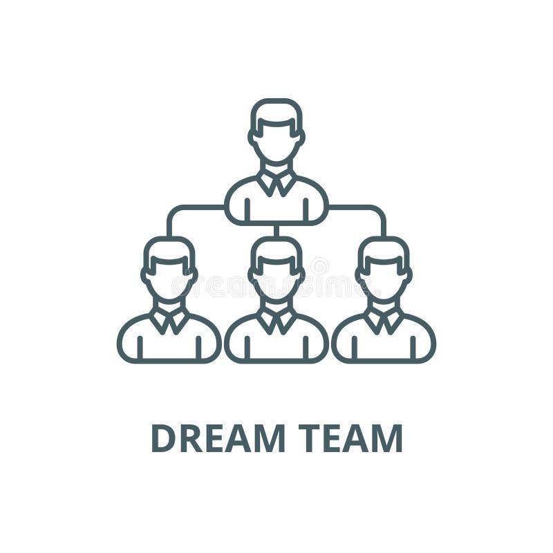 Linea icona, vettore del gruppo di sogno Segno del profilo del gruppo di sogno, simbolo di concetto, illustrazione piana illustrazione vettoriale