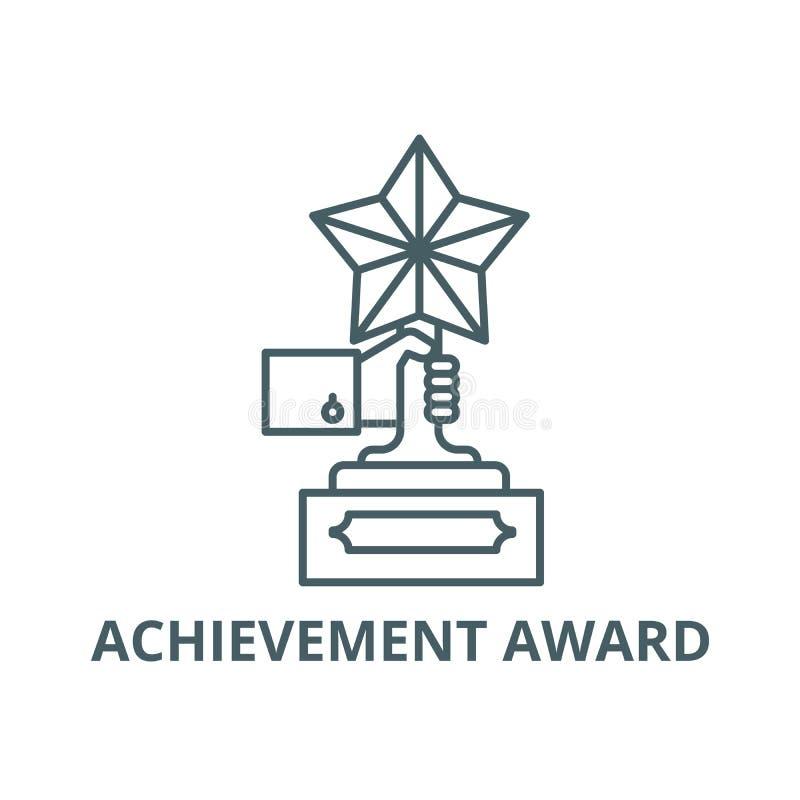 Linea icona, vettore del premio al successo Segno del profilo del premio al successo, simbolo di concetto, illustrazione piana illustrazione di stock