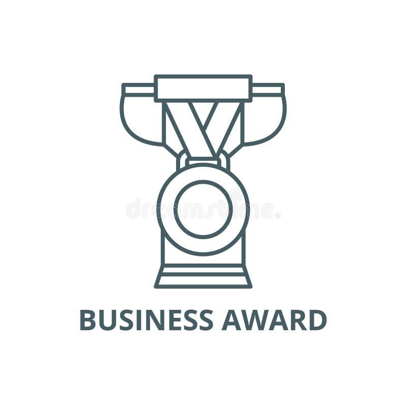Linea icona, vettore del premio di affari Segno del profilo del premio di affari, simbolo di concetto, illustrazione piana royalty illustrazione gratis
