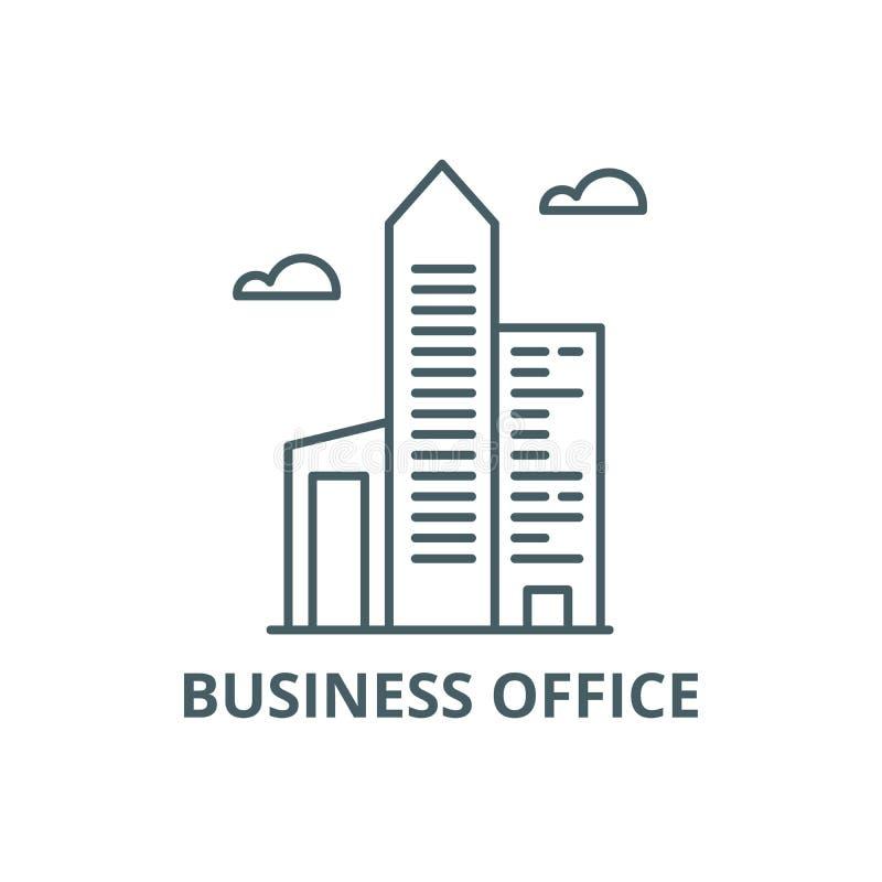 Linea icona, vettore dell'ufficio di affari Segno del profilo dell'ufficio di affari, simbolo di concetto, illustrazione piana royalty illustrazione gratis