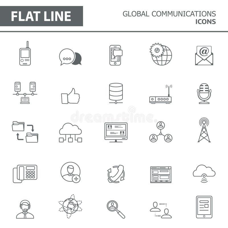 Linea icone royalty illustrazione gratis