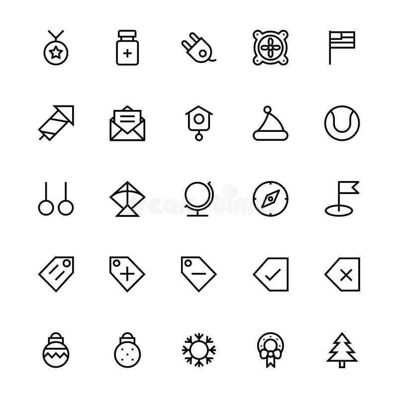 Linea icone 48 dell'interfaccia utente di vettore illustrazione vettoriale