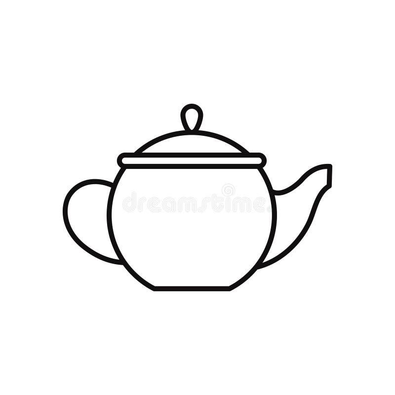 Linea illustrazione della teiera dell'icona illustrazione vettoriale