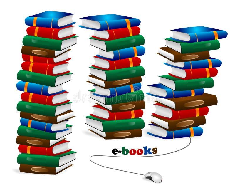 In linea libreria, vettore dei cdr royalty illustrazione gratis