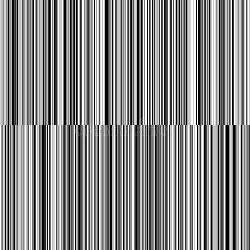 Linea linee verticali in bianco e nero fondo di spessore variabile illustrazione di stock