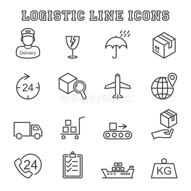 Linea logistica icone illustrazione di stock