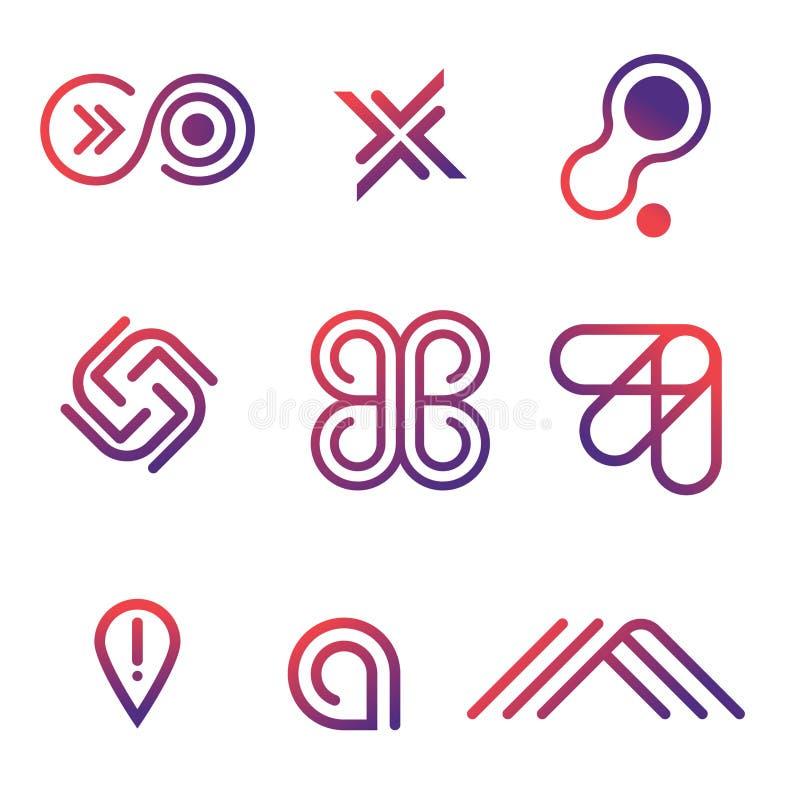 Linea logo delle icone di vettore royalty illustrazione gratis