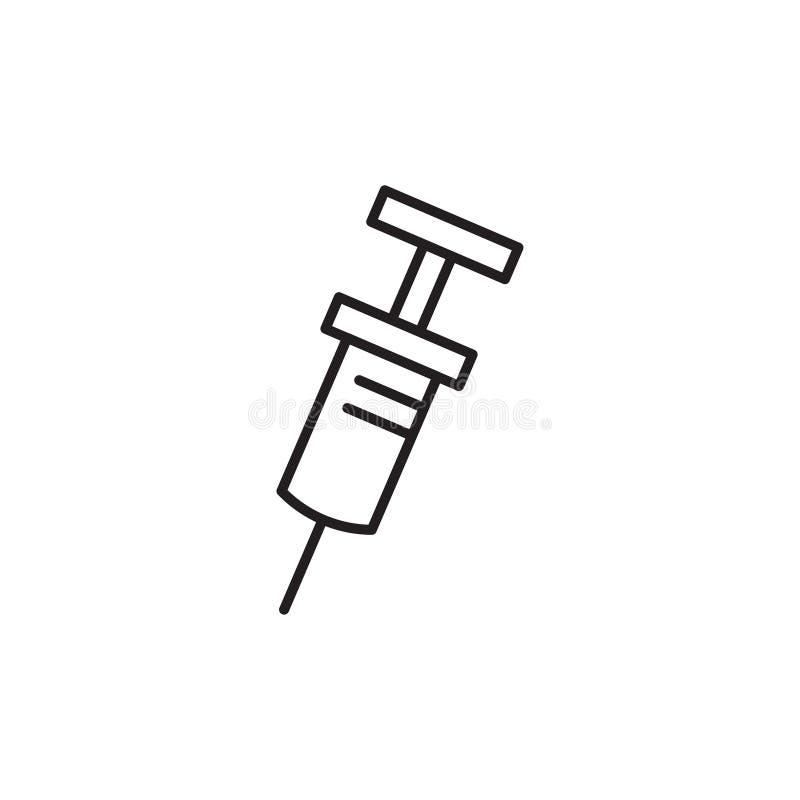 Linea medica moderna icona di siringa illustrazione vettoriale