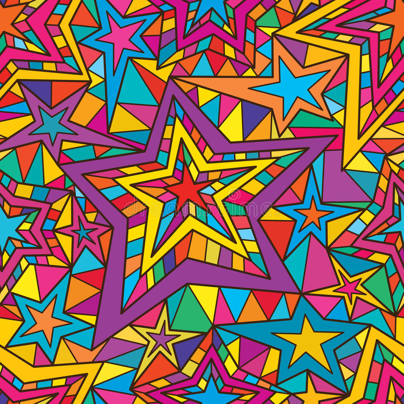 Linea modello della stella 5 dei seamles royalty illustrazione gratis