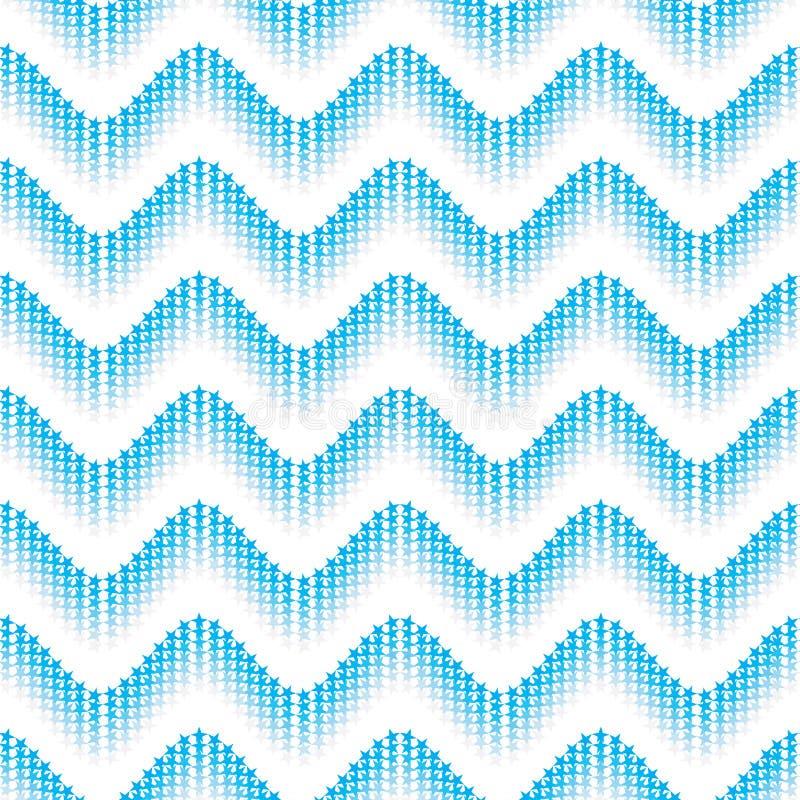Linea modello senza cuciture del chervon della stella di simmetria dell'onda royalty illustrazione gratis