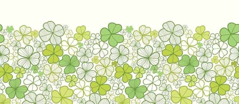 Download Linea Modello Senza Cuciture Orizzontale Del Trifoglio Di Arte Illustrazione Vettoriale - Illustrazione di celebrazione, scheda: 30827655