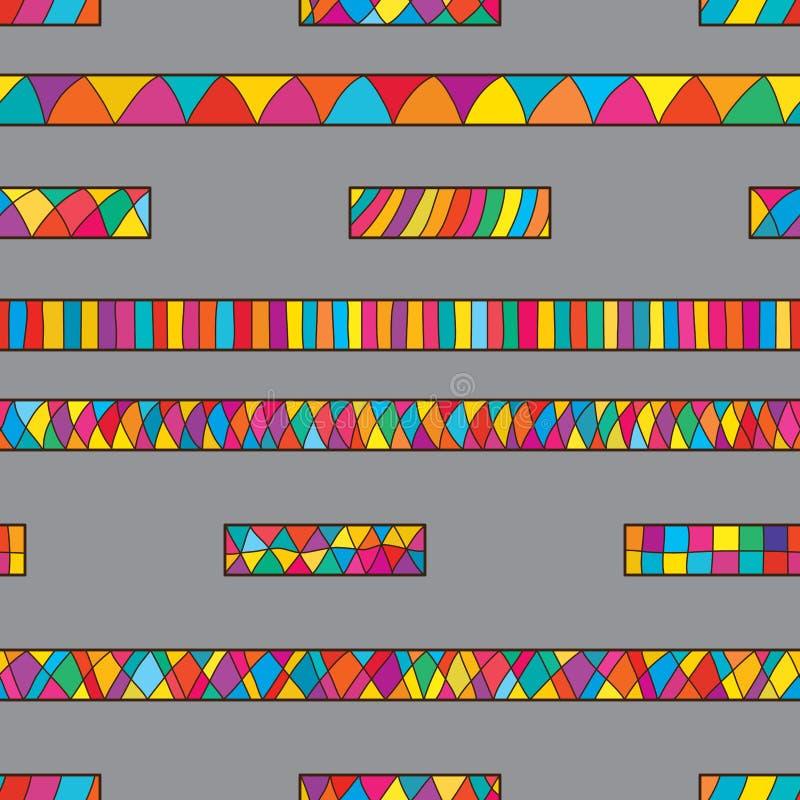 Linea modello senza cuciture variopinto verticale della strada illustrazione di stock