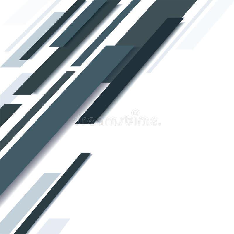 Linea nera astratta ed illustrazione bianca EPS10 di vettore del fondo royalty illustrazione gratis