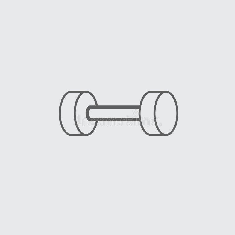 Linea nera icona della testa di legno della palestra royalty illustrazione gratis