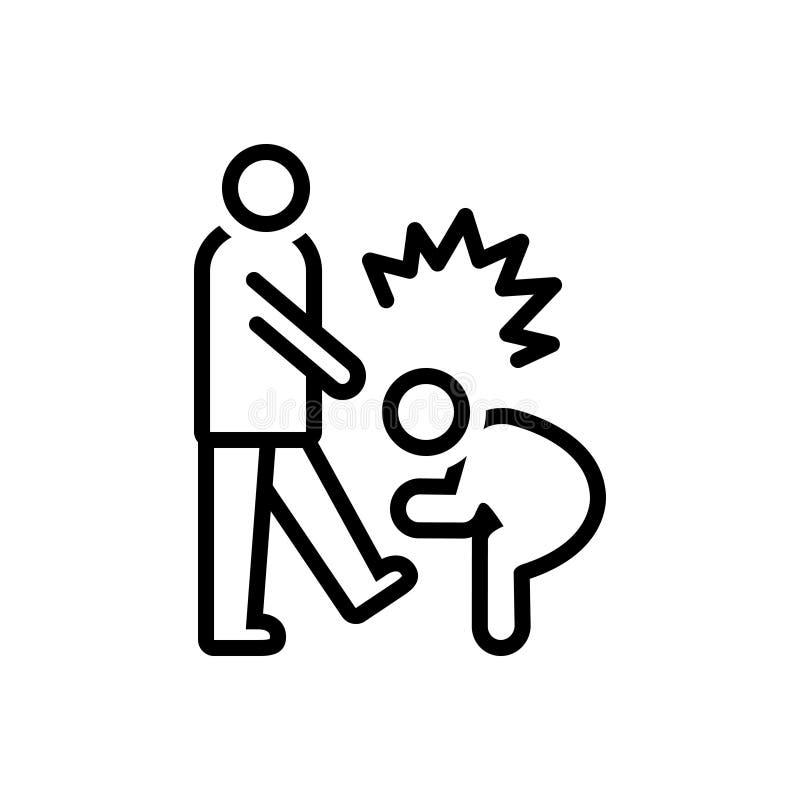Linea nera icona per abusivo, ingiurioso e derogatorio