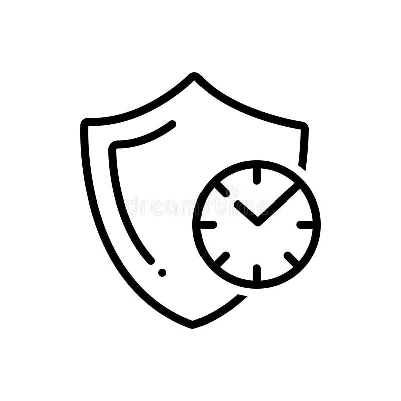 Linea nera icona per affidabile, credibile ed autentico royalty illustrazione gratis