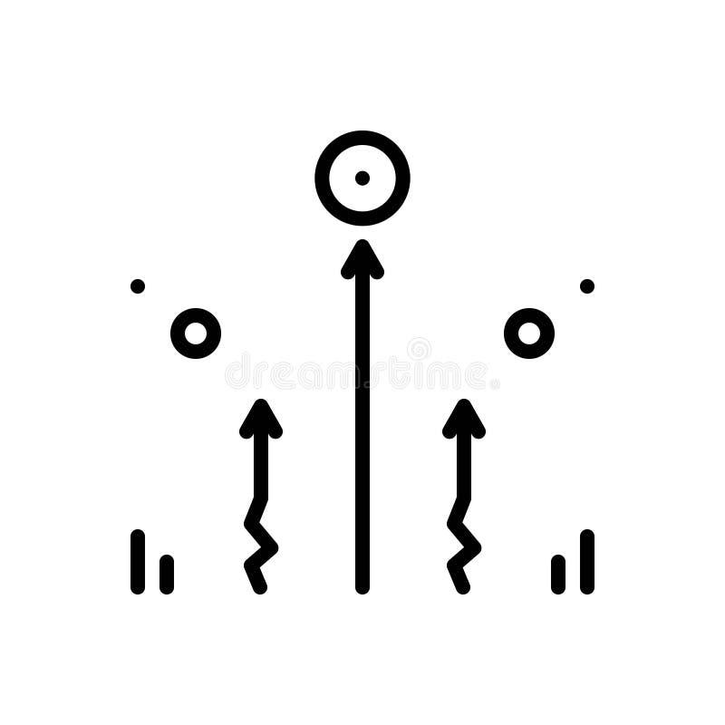 Linea nera icona per che non richiede sforzo, semplice e facile illustrazione di stock