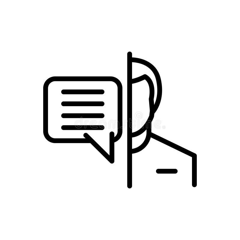 Linea nera icona per circa, interessante e riferentesi illustrazione vettoriale