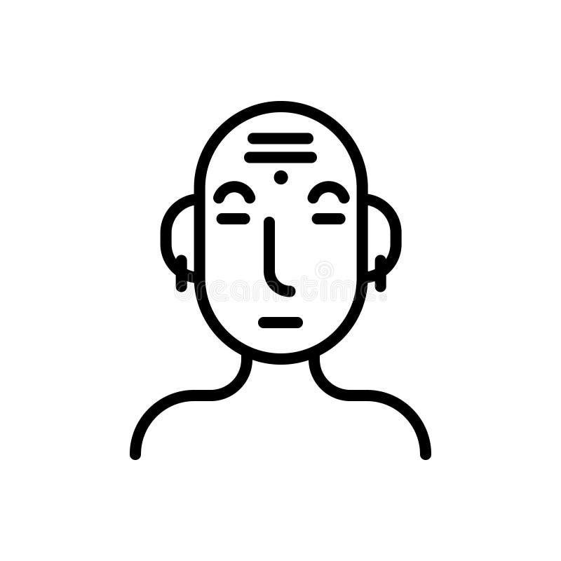 Linea nera icona per cultura, civilizzazione e tradizionale royalty illustrazione gratis