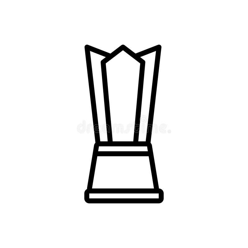 Linea nera icona per il premio, la tazza ed il trofeo illustrazione di stock