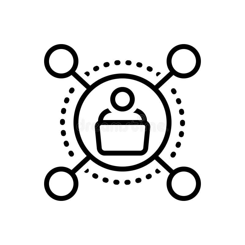 Linea nera icona per il sostenitore, il membro e la politica royalty illustrazione gratis