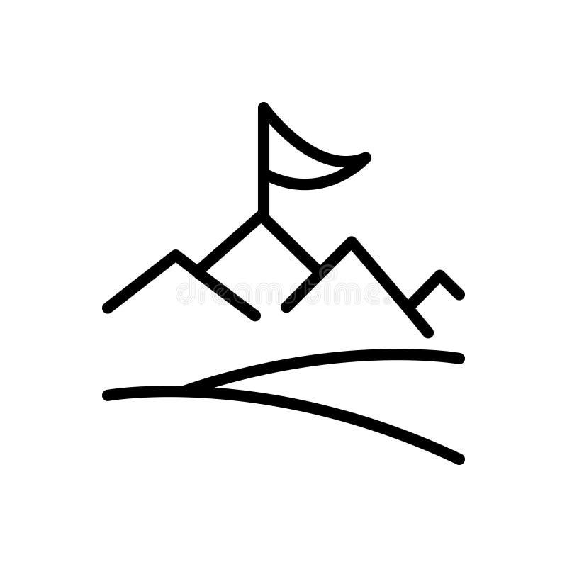 Linea nera icona per l'obiettivo, il risultato e la realizzazione royalty illustrazione gratis