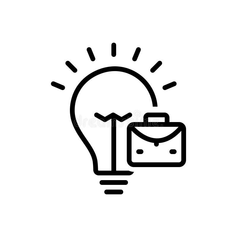 Linea nera icona per l'Vendere-idea, il commercio ed il concetto royalty illustrazione gratis