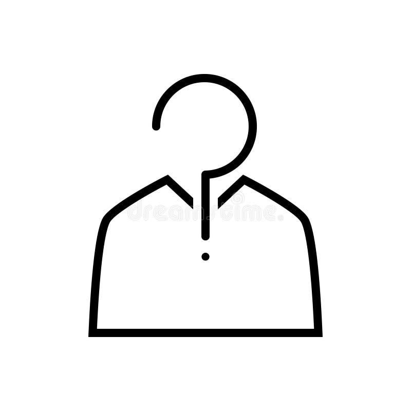 Linea nera icona per la congettura, che e sospetto illustrazione di stock
