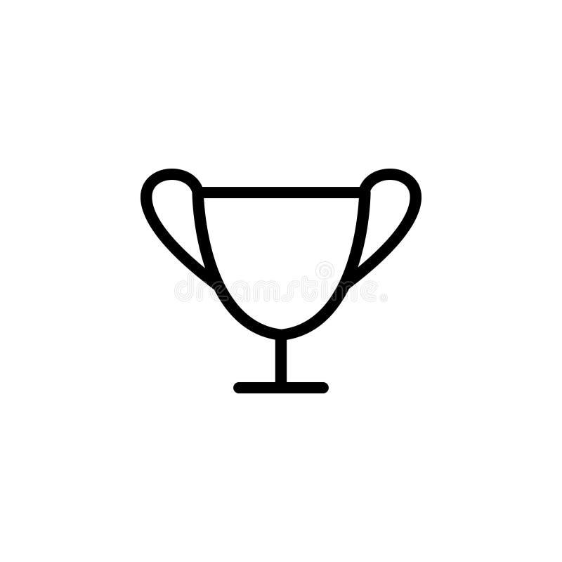 Linea nera icona per la tazza, il premio ed il trofeo illustrazione di stock
