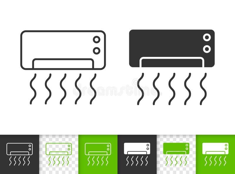 Linea nera semplice icona del condizionatore d'aria di vettore royalty illustrazione gratis