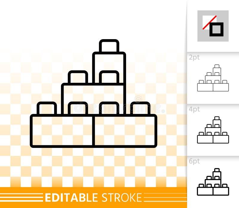 Linea nera semplice icona del giocattolo della particella elementare di vettore illustrazione di stock