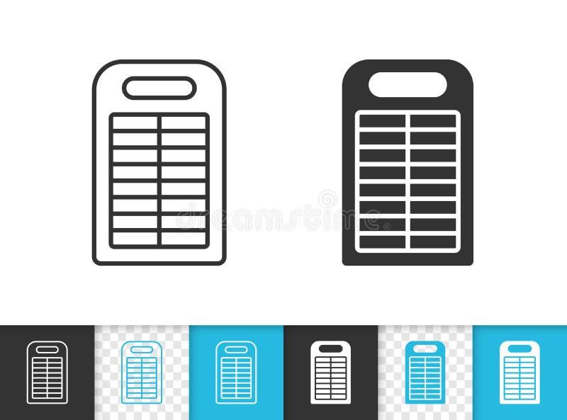 Linea nera semplice icona della Banca di potere di vettore royalty illustrazione gratis
