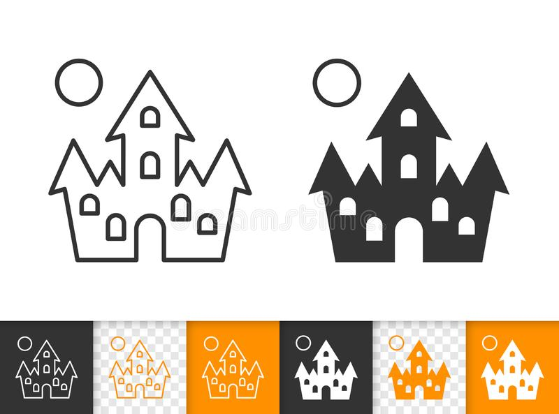 Linea nera semplice icona della Camera di Dracula di vettore illustrazione vettoriale