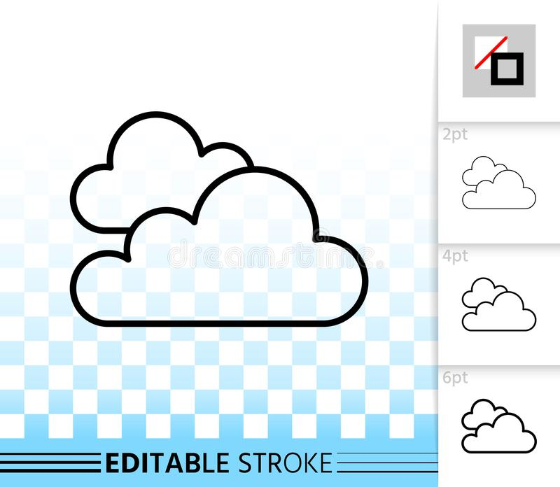 Linea nera semplice icona della nuvola di vettore illustrazione vettoriale