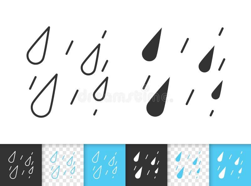 Linea nera semplice icona della pioggia di vettore illustrazione vettoriale