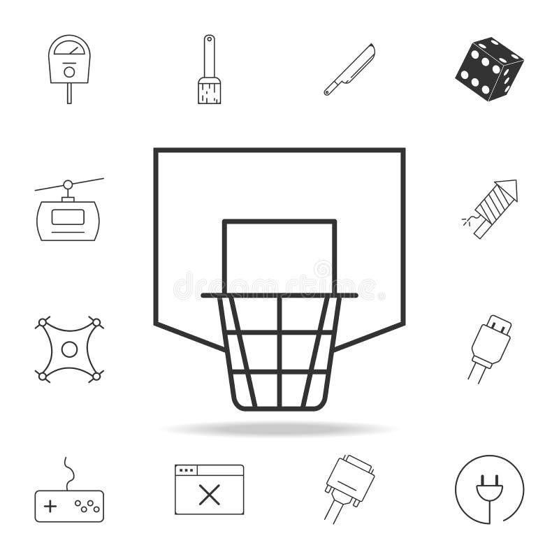 Linea netta icona di pallacanestro Insieme dettagliato delle icone e dei segni di web Progettazione grafica premio Una delle icon illustrazione vettoriale