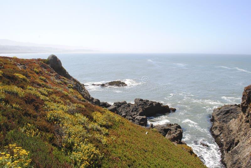 Linea oceano della costa fotografie stock libere da diritti