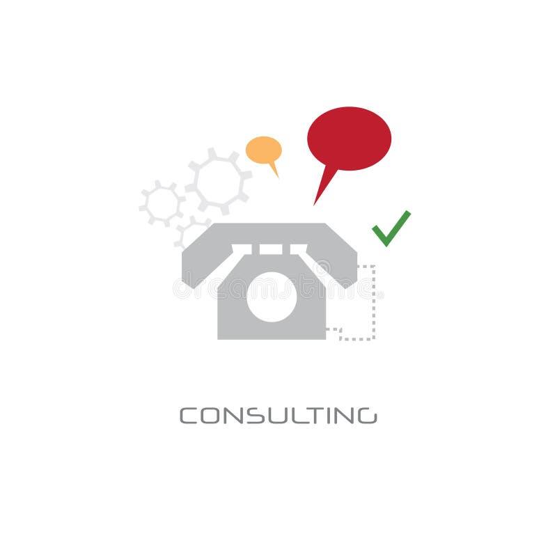 Linea online consultantesi fondo bianco di chiamata di discorso della bolla di chiacchierata di concetto di servizio di sostegno  royalty illustrazione gratis
