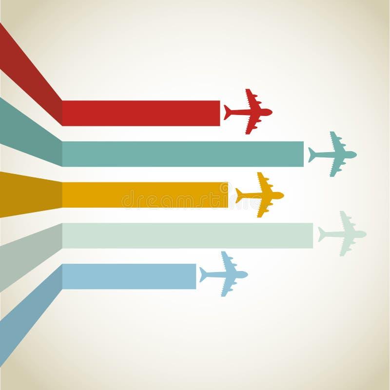 Linea orizzontale degli aerei illustrazione di stock