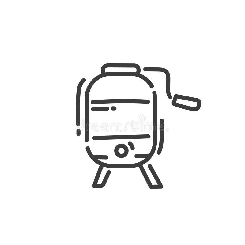 Linea piana icona di arte del meccanismo per la produzione di miele royalty illustrazione gratis