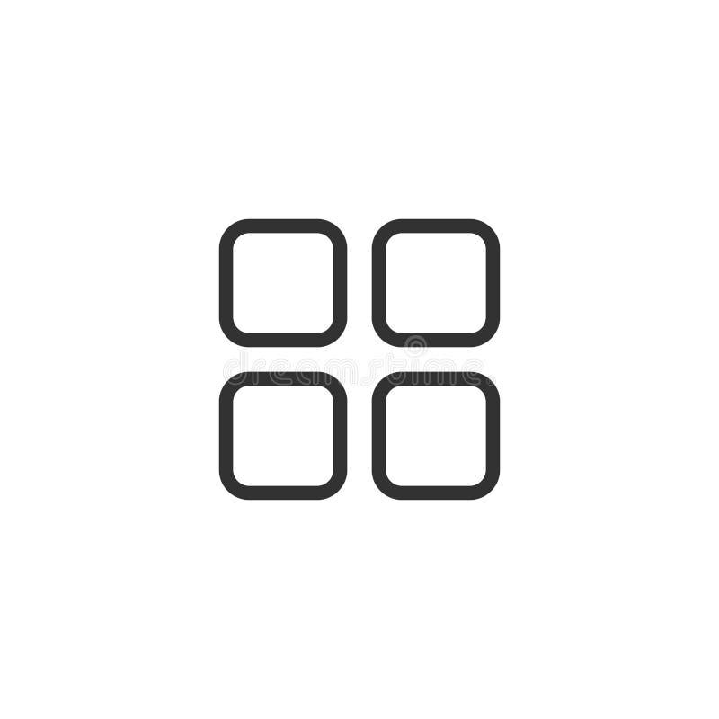 Linea progettazione del cassetto di Apps dell'icona royalty illustrazione gratis
