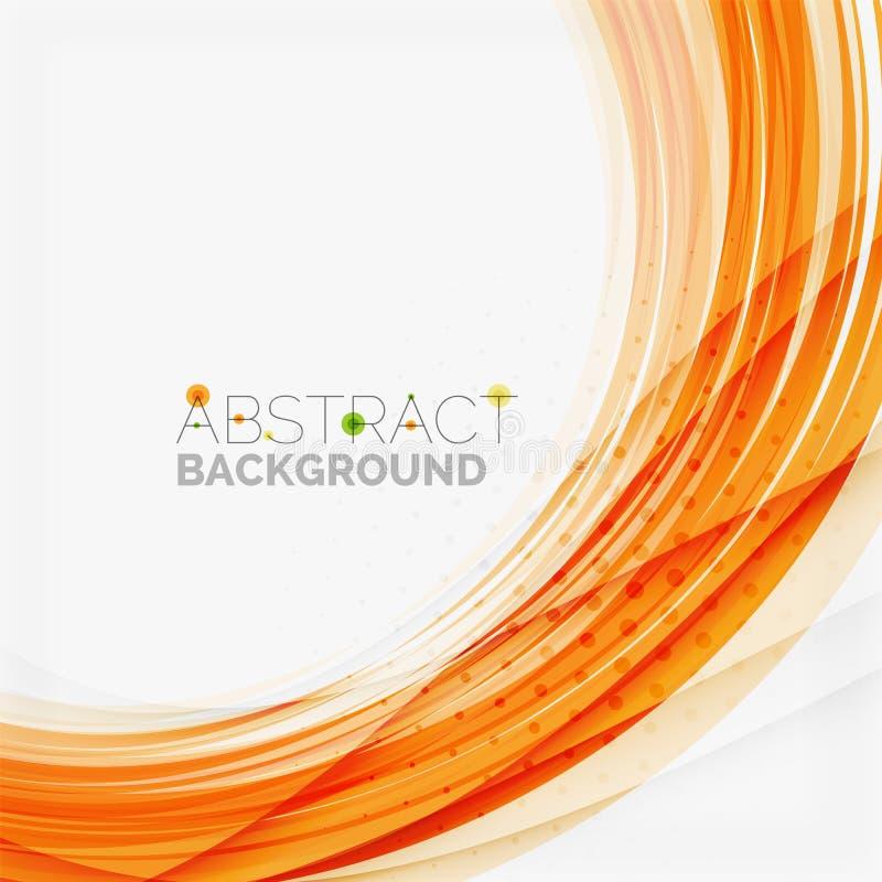 Linea progettazione, eco dell'onda arancio e verde della natura royalty illustrazione gratis
